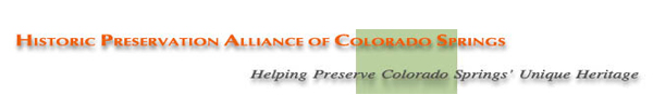 Historic Preservation Alliance of Colorado Springs Summer Tour Program