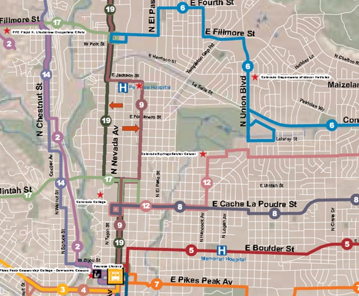 The ONEN Transit Committee proposed an alternative plan to split the current core service down Wahsatch and Cascade Avenue, and reserving future high-capacity transit for I-25